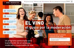 Portada de la web de Wine in Moderation
