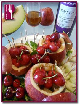 PabloD Gourmet - Manzanas Malmo con Gomara Pajarete