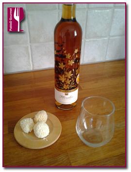 PabloD Gourmet - Kokosbollar con Torres Floralis Moscatel Oro