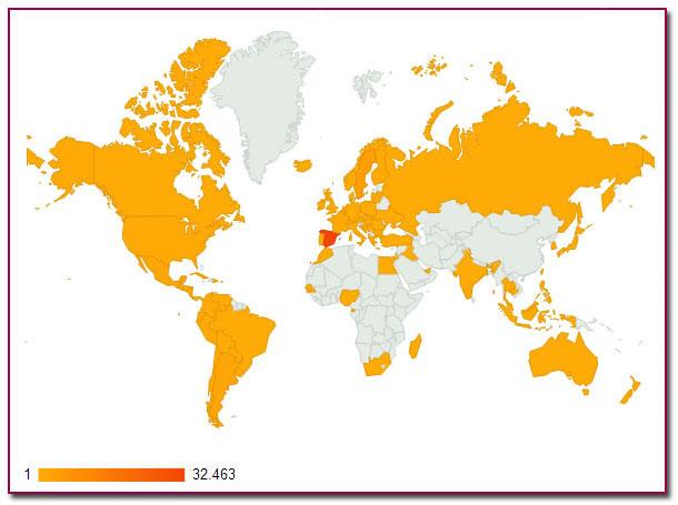 PabloD Gourmet - Mapa de Visitas - WordPress - 2012