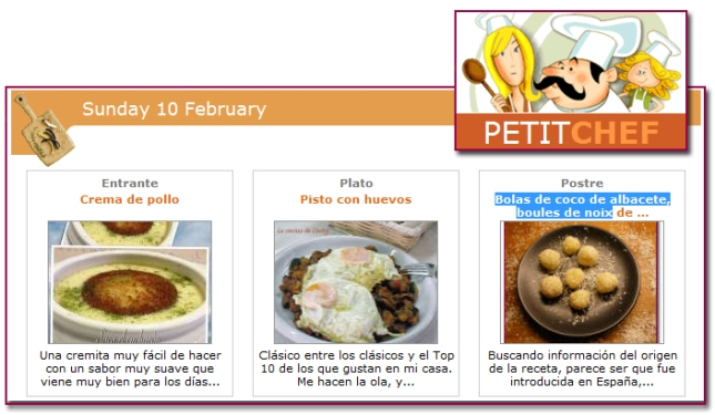 PabloD Gourmet - Menú PetitChef - 130210