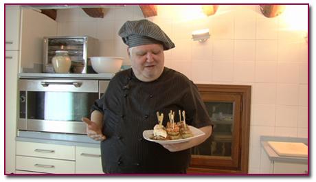 PabloD Gourmet - Javier Romero después de preparar unos pinchos