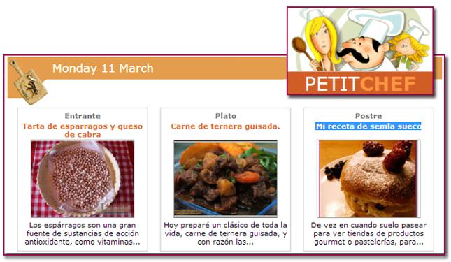 PabloD Gourmet - Menú PetitChef - 130311