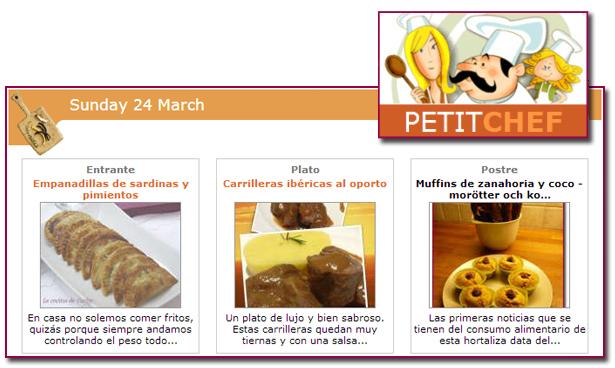 PabloD Gourmet - Menú PetitChef - 130324