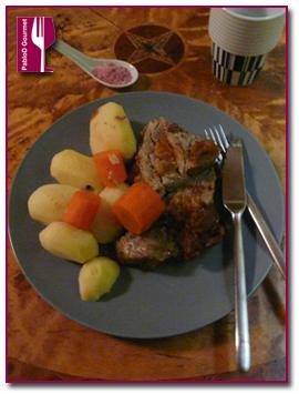 PabloD Gourmet - Sal de vino tinto Shiraz y Malbec con ternera asada con albaricoque