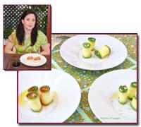 PabloD Gourmet - Carpaccio de calabacín con queso crema de Graci Roldán