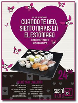 PabloD Gourmet - Sushimore en el dia de los enamorados