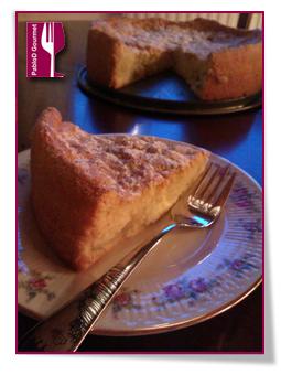 PabloD Gourmet - Detalle de una porción de Genovesa con manzana
