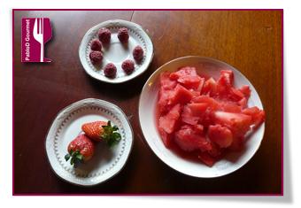 PabloD Gourmet - Ingredienser vattenmelon juice med bär