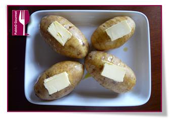 PabloD Gourmet - Patatas Hasselback con mantequilla