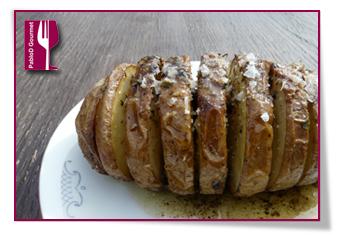 PabloD Gourmet - Patatas Hasselback enplatada