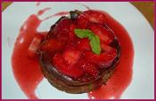 PabloD Gourmet - Tartaleta de queso con fresas y su coulis