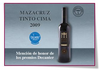 PabloD Gourmet - Mazacruz Cima Tinto 2009 logra una mención de honor en los prestigiosos  Decanter Worldwide Awards 2014