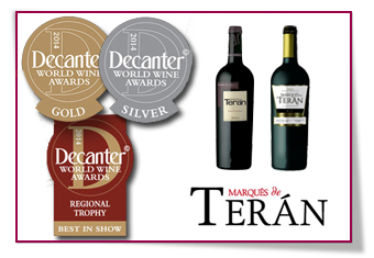 PabloD Gourmet - Premios Decanter World Wine Awards para Bodegas Marqués de Terán