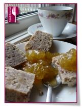 PabloD Gourmet - Nötterkaka con mermelada de naranja para un café solo
