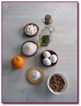 PabloD-Gourmet - Ingredientes del pastel de almendras y naranjas
