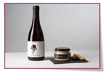 la crema de queso y el vino V Dulce de Invierno